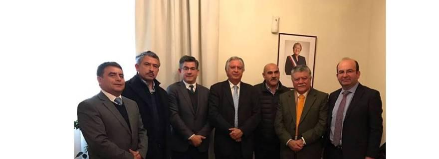 Subsecretario y Alcaldes de la AMRBB